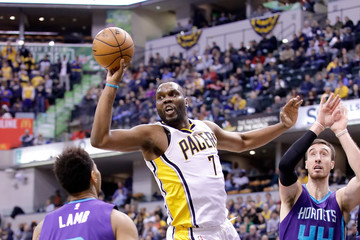 Al Jefferson Charlotte Hornets v Indiana Pacers