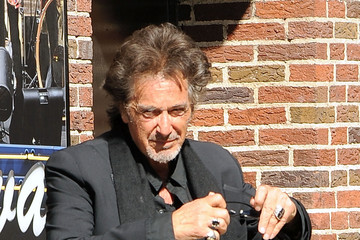 """Al Pacino Celebrities Visit """"Late Show With David Letterman"""" - May 14, 2015"""