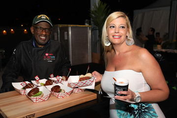 Al Roker The Beyond Burger From Beyond Meat Is Served At The South Beach Wine & Food Festival Burger Bash At Al Roker's Booth