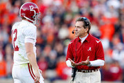 Nick Saban and Greg McElroy Photos Photo
