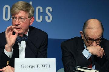 George Will Alan Greenspan Speaks At Peterson Institute For Int'l  Economics