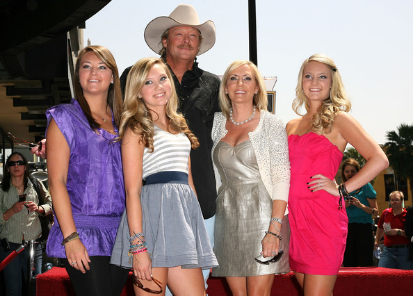 Country singer Alan Jackson attends his Hollywood Walk Of Fame Induction Ceremony with (L-R) daughter Mattie, daughter Dani, wife Denise and daughter Ali on April 16, 2010 in Hollywood, California.