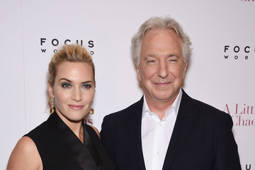 Alan Rickman Actors Pose at the 'A Little Chaos' New York Premiere