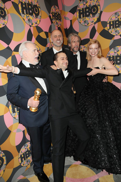HBO's Official Golden Globes After Party - Arrivals [event,formal wear,suit,brian cox,sarah snook,alan ruck,jesse armstrong,kieran culkin,california,golden globes,hbo,party,arrivals,jesse armstrong,kieran culkin,sarah snook,stock photography,succession,brian cox,photograph,image]