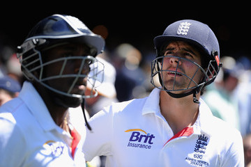 Alastair Cook Michael Carberry Australia v England - Fourth Test: Day 3