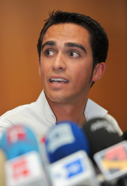 Alberto Contador Photos Photos Alberto Contador Press Conference After Testing Positive For