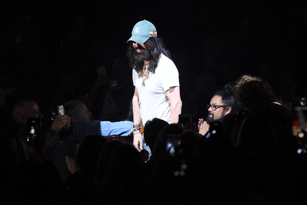 Gucci - Runway - Paris Fashion Week Spring/Summer 2019 [performance,event,stage,performing arts,night,crowd,fun,darkness,tree,music,alessandro michele,crowd,paris,france,gucci,paris fashion week,show,paris fashion week spring]