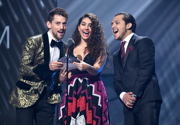 The 20th Annual Latin GRAMMY Awards - Show [event,performance,fashion,fun,talent show,formal wear,suit,award,ceremony,stage,winner,luis gerardo m\u00e3,cristian nodal,alessia cara,tropical fusion album award,mgm grand garden arena,las vegas,nevada,latin grammy awards,show]