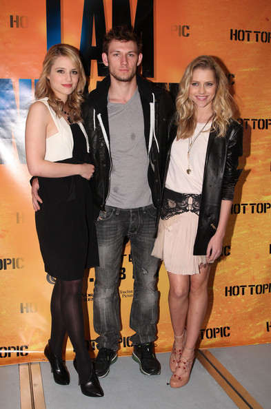 "Dianna Agron, Alex Pettyfer and Teresa Palmer at ""I Am Number Four"" Cast"