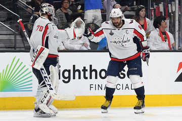Alex Ovechkin Braden Holtby 2018 NHL Stanley Cup Final - Game One