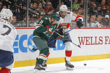 Alex Petrovic Florida Panthers v Minnesota Wild