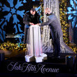 Alex Rodriguez Saks Fifth Avenue Holiday Window Unveiling 2020