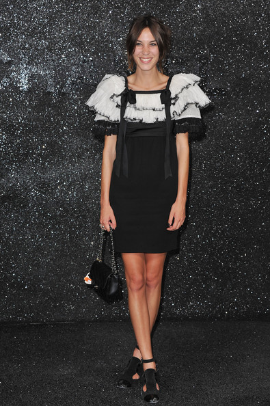 Alexa Chung Alexa Chung attends the Chanel Haute Couture Fall/Winter 2011/2012 show as part of Paris Fashion Week at Grand Palais on July 5, 2011 in Paris, France.