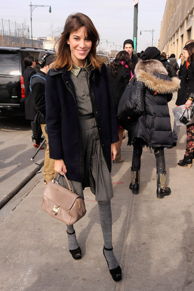 Alexa Chung - Jason Wu - Arrivals - Fall 2012 Mercedes-Benz Fashion Week