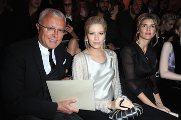 Alexander Lebedev Front Row at the Giorgio Armani Show