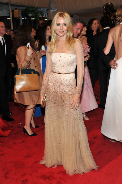 "Actress Naomi Watts attends the ""Alexander McQueen: Savage Beauty"" Costume Institute Gala at The Metropolitan Museum of Art on May 2, 2011 in New York City."