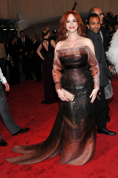 "Actress Christina Hendricks attends the ""Alexander McQueen: Savage Beauty"" Costume Institute Gala at The Metropolitan Museum of Art on May 2, 2011 in New York City."