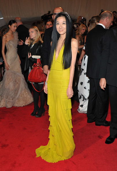 "Designer Vera Wang attends the ""Alexander McQueen: Savage Beauty"" Costume Institute Gala at The Metropolitan Museum of Art on May 2, 2011 in New York City."