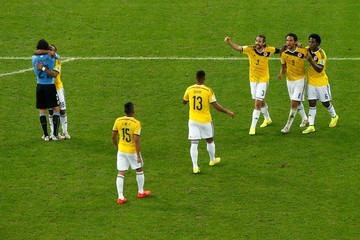 Alexander Mejia Colombia v Uruguay: Round of 16 - 2014 FIFA World Cup Brazil
