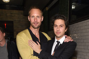 (L-R)  Alexander Skarsgård and Nat Wolff attend as Alexander Skarsgård receives the IMDb STARmeter Award at The 2019 Tribeca Film Festival After Party for The Kill Team hosted by IMDbPro at The Ainsworth - FiDi on April 27, 2019 in New York City.