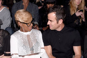 Artist Mary J Blige (L) and actor Justin Theroux attend the Alexander Wang X H&M Launch on October 16, 2014 in New York City.