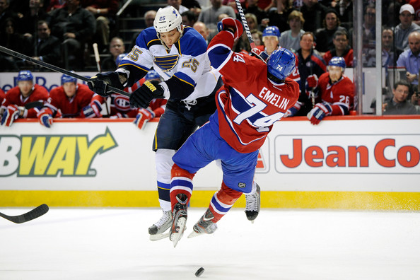Alexei Emelin - St Louis Blues v Montreal Canadiens
