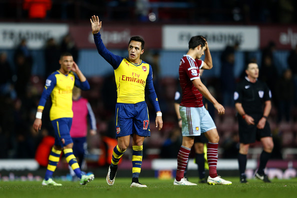 Alexis Sanchez - West Ham United v Arsenal - Premier League