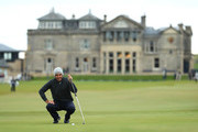 Edoardo Molinari of Italy putts on the 17th green during day four of the 2018 Alfred Dunhill Links Championship at The Old Course on October 7, 2018 in St Andrews, Scotland.