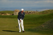 Matt Kuchar of The United States plays his second shot on the 12th during day one of the 2018 Alfred Dunhill Links Championship at Kingsbarns on October 4, 2018 in St Andrews, Scotland.