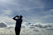 Ross Fisher of England tees off on the 17th during day two of the 2018 Alfred Dunhill Links Championship at Carnoustie Golf Links on October 5, 2018 in, Carnoustie, Scotland.