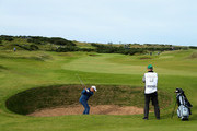 Mark Boucher on the 16th hole during day two of the 2017 Alfred Dunhill Championship at Kingsbarns on October 6, 2017 in St Andrews, Scotland.