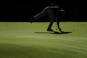 Edoardo Molinari of Italy on the green during previews prior to the 2018 Alfred Dunhill Links Championship at The Old Course on October 2, 2018 in St Andrews, Scotland.