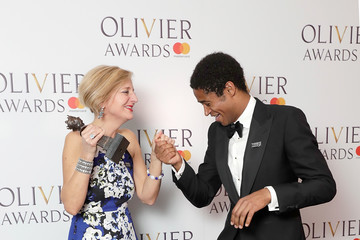 Alfred Enoch The Olivier Awards With Mastercard - Press Room