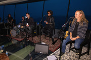(L-R) Mike Inez, Sean Kinney, William DuVall and Jerry Cantrell of Alice In Chains perform for SiriusXM's Lithium Channel at The Space Needle on August 21, 2018 in Seattle, Washington.