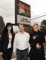 """Coby Brooks Alice Eve & Krysten Ritter Become """"Honorary Hooters Girls"""""""