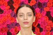 Actress Angela Sarafyan attends the Alice + Olivia By Stacey Bendet presentation during New York Fashion Week at The Angel Orensanz Foundation on February 11, 2019 in New York City.