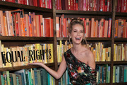 Actor Olivia Jordan poses at Alice + Olivia by Stacey Bendet presentation during New York Fashion Week: The Shows at Industria Studios on February 13, 2018 in New York City.