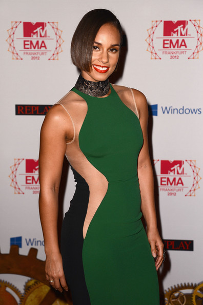 Alicia Keys - MTV EMA's 2012 - Red Carpet Arrivals