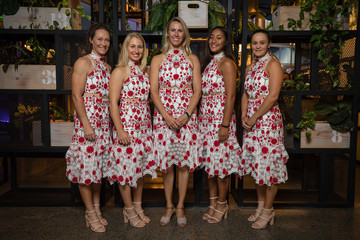 Alicia Molik Destanee Aiava Official Dinner: Australia vs. Netherlands - Fed Cup World Group Play-off