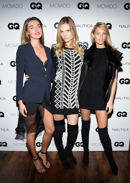 GQ Gentlemen's Fund Cocktail Reception + Awards Ceremony [clothing,fashion model,little black dress,fashion,dress,footwear,cocktail dress,joint,knee,leg,alina baikova,gq gentlemen,michaela kocianova,andreja pejic,new york city,the gent,gq gentlemens fund cocktail reception awards ceremony,fund cocktail reception,awards ceremony]