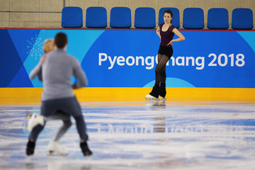 Aliona Savchenko Previews - Winter Olympics Day -3