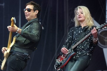 Alison Mosshart The Kills Perform on Stage at the Vieilles Charrues Festival