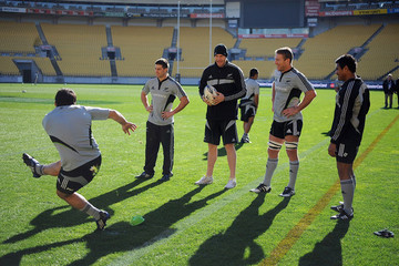Ali Williams Brad Thorn All Blacks Captain's Run