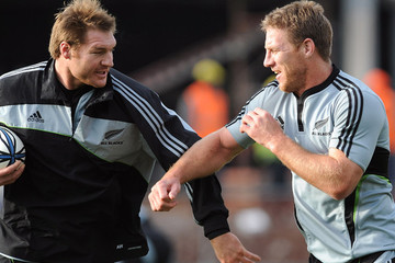 Ali Williams Brad Thorn All Blacks Training Session
