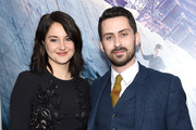 """Actors Shailene Woodley (L) and Andy Bean attend the New York premiere of """"Allegiant"""" at the AMC Lincoln Square Theater on March 14, 2016 in New York City."""
