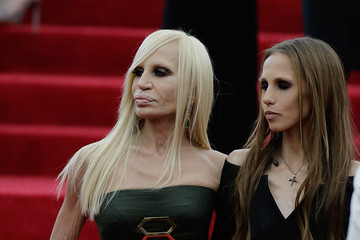 Allegra Versace Red Carpet Arrivals at the Met Gala