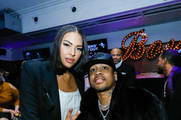 Allen Iverson Liz Cambage The Players' Tribune + Heir Jordan Host Players' Night Out At The Royale Party At Bounce Sporting Club In Chicago