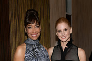 Gina Torres (L) and Sarah Rafferty attend The Alliance For Children's Rights 26th Annual Dinner at The Beverly Hilton Hotel on March 28, 2018 in Beverly Hills, California.