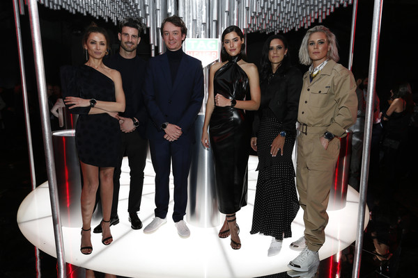 TAG Heuer Celebrates The Launch Of The New Connected Watch [tag heuer celebrates the launch of the new connected watch,the launch,fashion,event,fashion design,fun,photography,dress,style,little black dress,officer,aitor ocio,fre\u00ec de\u00ec,arnault,almudena fernandez,fashion,chief strategy,tag heuer,haute couture,runway,fashion,model,socialite,suit,flooring]