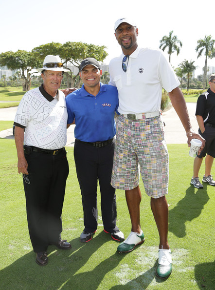 Ivan Rodriguez, Chi Chi Rodriguez, Alonzo Mourning - Alonzo Mourning Photos - Personal Luxury Resorts & Hotels Presents Celebrity Chef Golf Tournament Hosted By Jose Andres - Food Network South Beach Wine